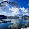 野尻湖から見える黒姫山