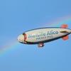 6 虹とジェット機と飛行船 (各国航空アクロバットチーム)