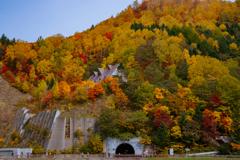 山の上のレストランとトンネル