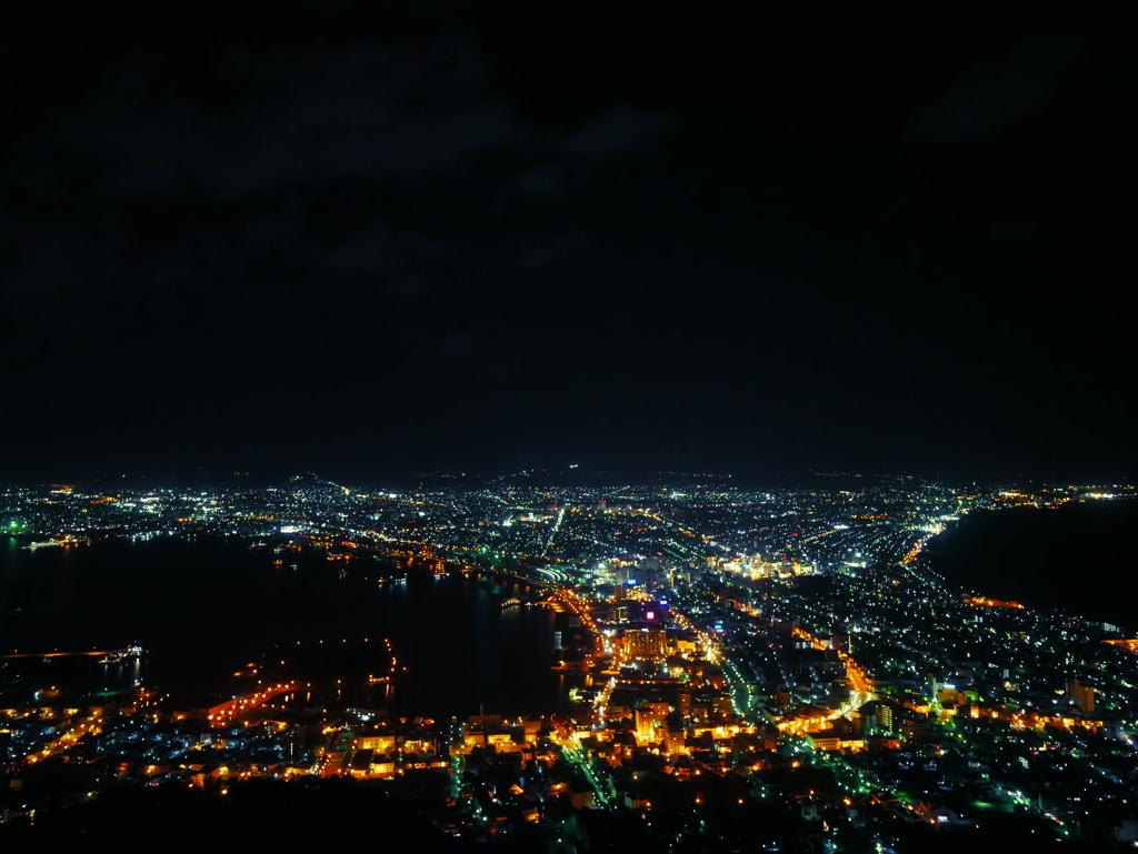 【2017北海道車中泊一人旅】初めての夜景撮影