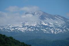 忠別ダムから見る大雪山