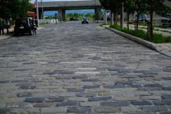 石畳の道路
