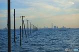 海の上の電柱