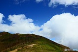 山の上のふんわり雲