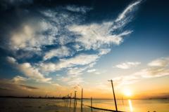 江川海岸・夕景