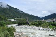 日本最大級の木製吊り橋②