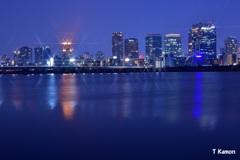 淀川から見た梅田の夜景②