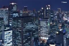 梅田高層ビル群の夜景