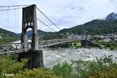 日本最大級の木製吊り橋①