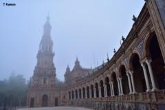 霧のスペイン広場①