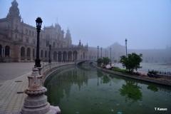 霧のスペイン広場②