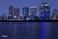 淀川から見た梅田の夜景③