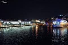 ナポリ港の夜景