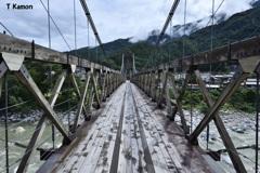 日本最大級の木製吊り橋④