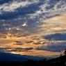 夕日@水の山