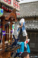 服織田神社祭典【ひょっとこ②】