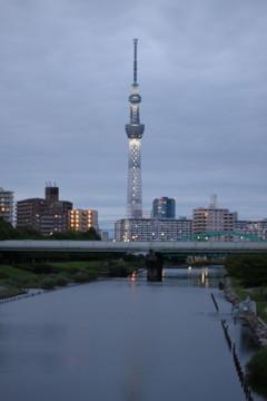 夕景/ スカイツリー