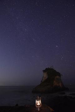 ランタンと星空