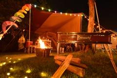 キャンプの夜は撮影♫