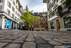 スイス ルツェルンの石畳