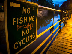 No fishing, No cycling