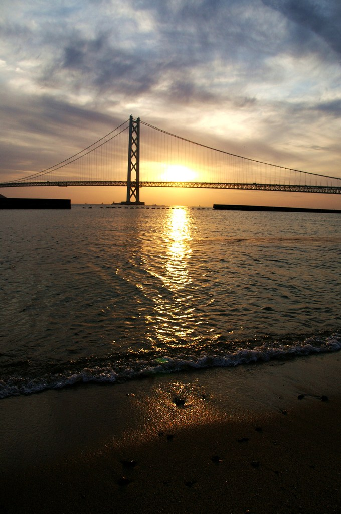 The Bridge And Sunset Beach