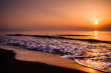 Sunset on the shore