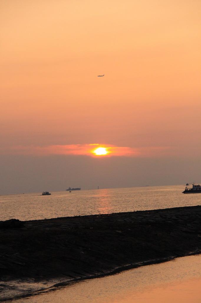 台湾 淡水の夕日