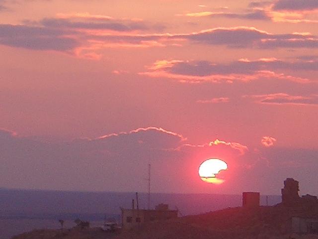 アラブ城で夕日を