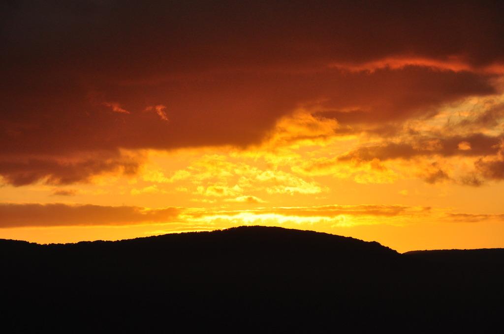 十和田湖の夕日④