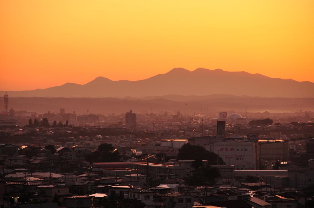 夕方、名久井岳