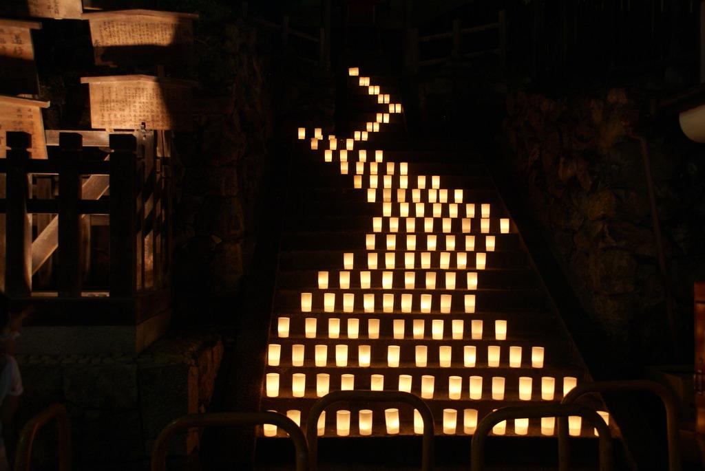階段の灯火