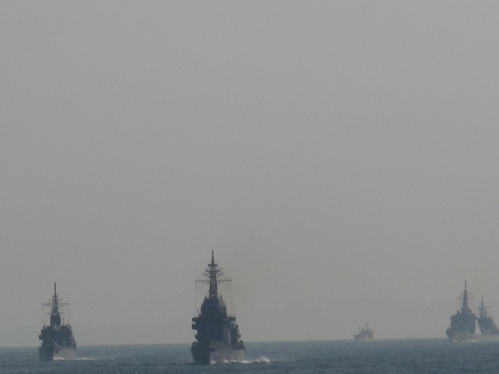観艦式参加艦艇のリハーサル(2)
