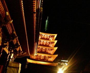 浅草寺にて