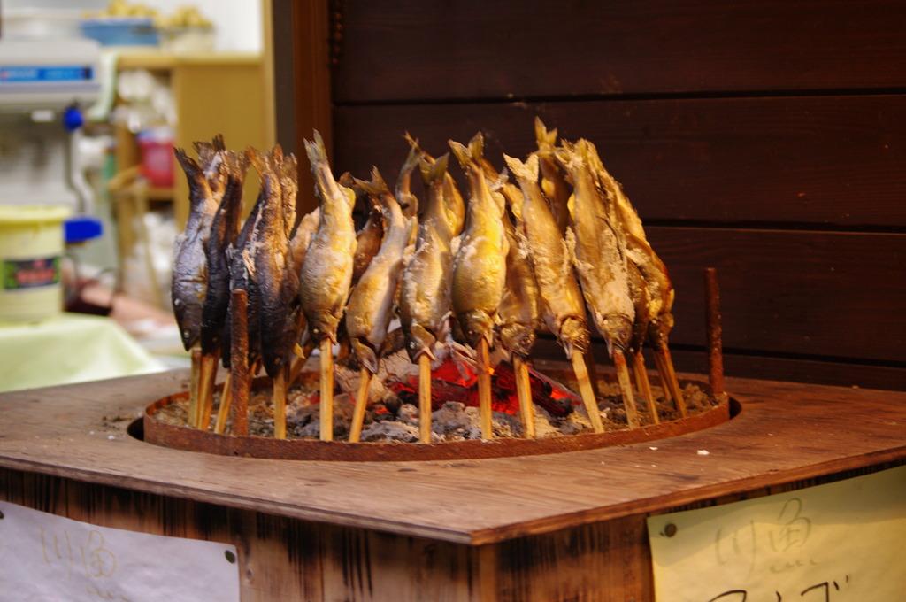 川魚の串焼き
