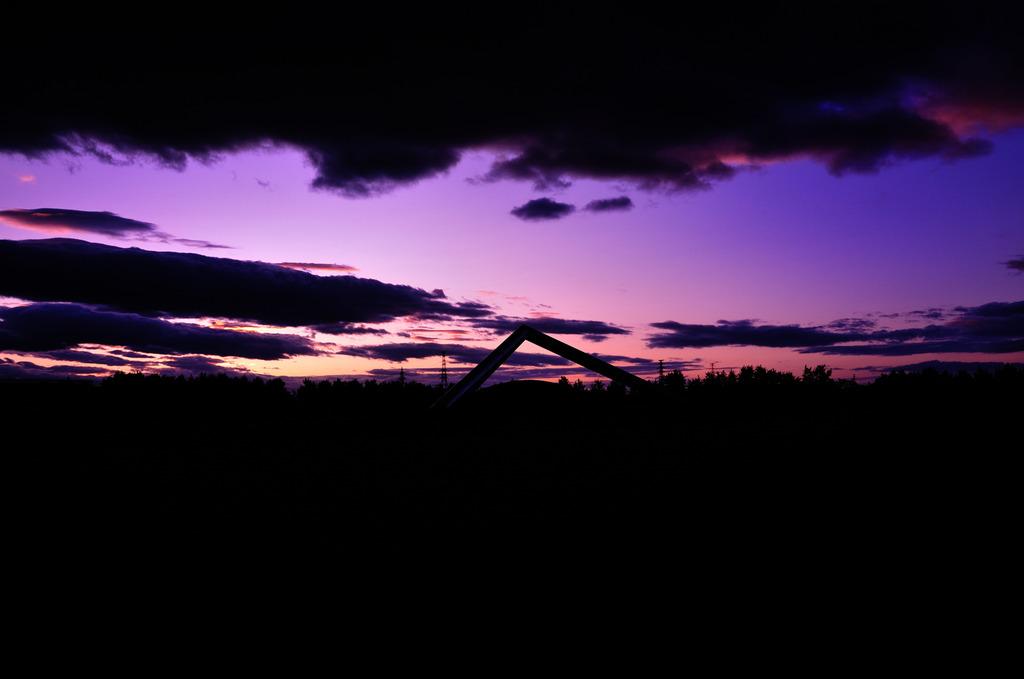 紫に染まる…