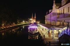 Canal night at Huis Ten Bosch
