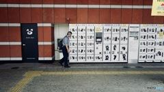 Walker in South Gate, Oita station