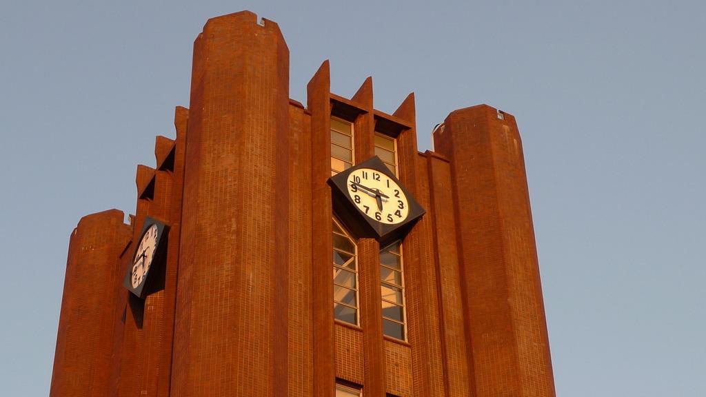 夕日の時計台