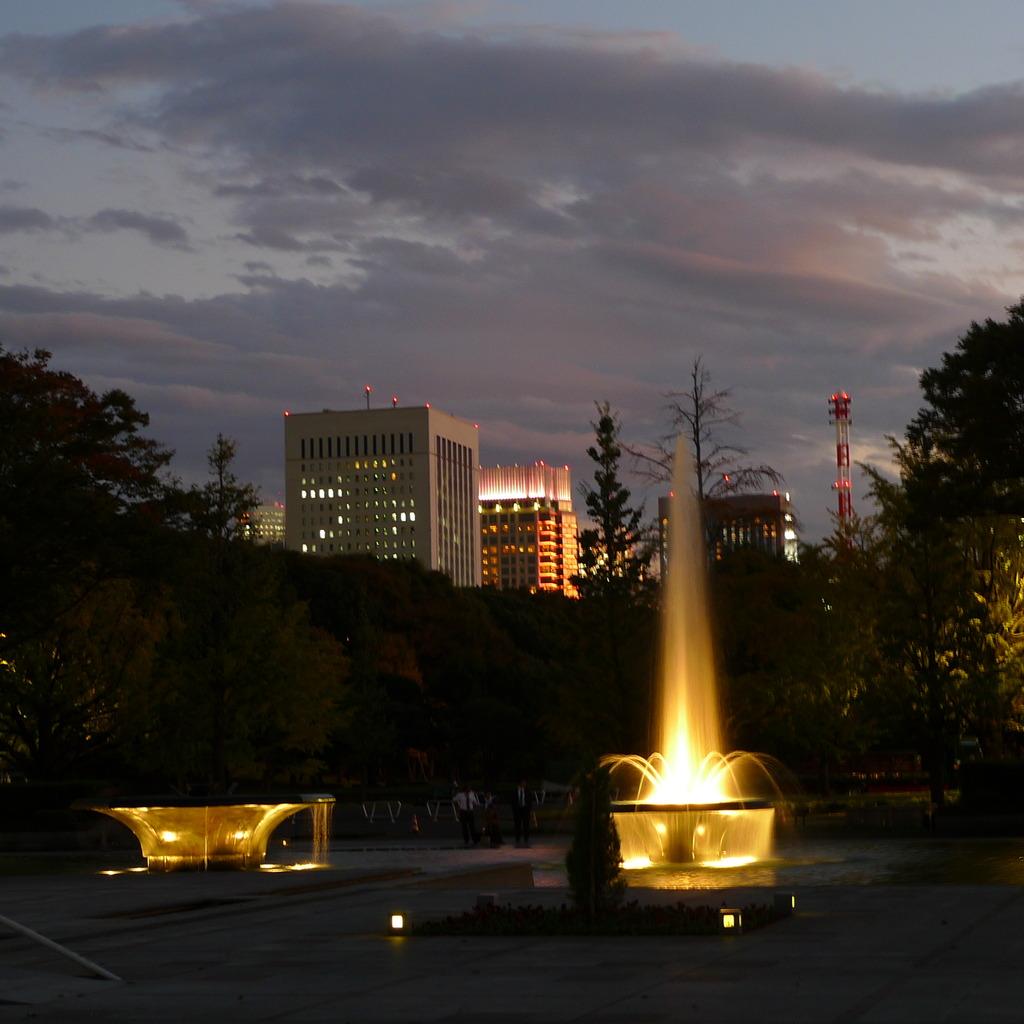 輝く光の柱