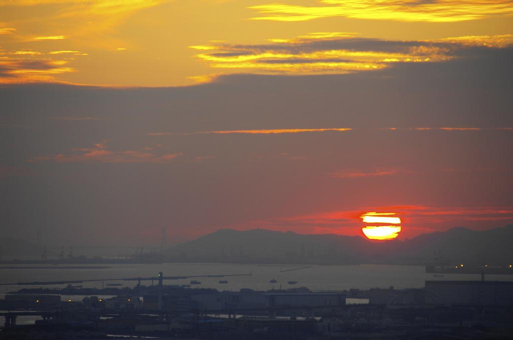 空中庭園からの夕日(3)