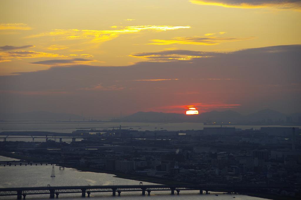 空中庭園からの夕日(1)