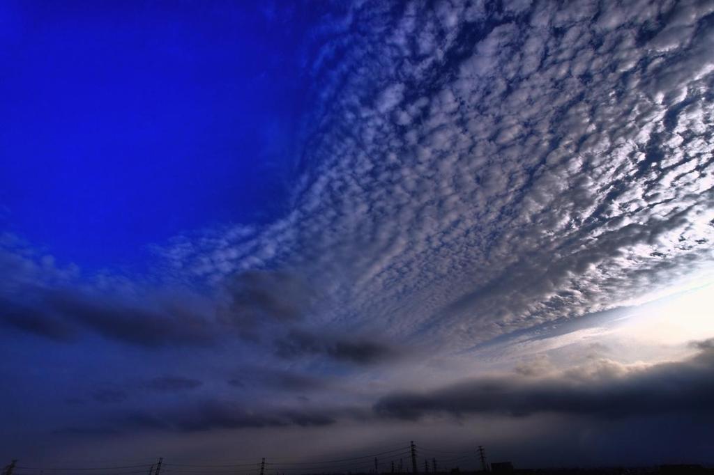 雲片の群れ
