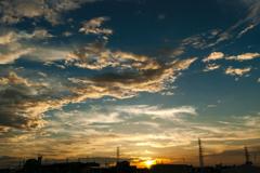 晩夏の日没