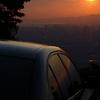 夕日とコラボ1