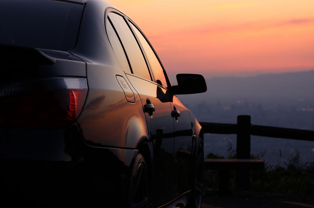 夕日とコラボ2