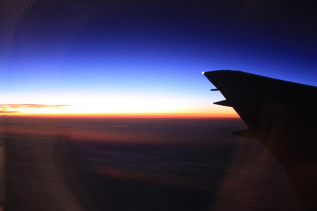 雲の上からの夕ぐれ