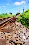 線路と青空