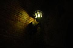 北吸トンネルのなかの灯り