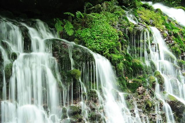 湧き出す滝